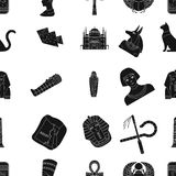 Ancient Egypt pattern icons in black style. Big collection of ancient Egypt vector symbol stock illustration Stock Photos