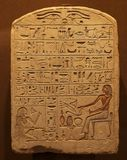 Ancient Egypt hieroglyphs. Ancient Egypt - plate with egyptian hieroglyphs royalty free stock photos
