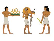 Ancient Egypt set of illustration, group of trader, richmand and hutsman Egypt murals, Ancient Egypt people, people of royalty free stock photo