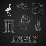 Ancient Egypt travel and art icons Royalty Free Stock Images