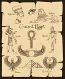 Ancient Egypt vector symbols Royalty Free Stock Photo