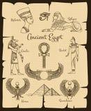 Ancient Egypt vector symbols Royalty Free Stock Photo