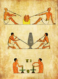 Ancient Egypt, worker making pottery or blowing glass Stock Photos