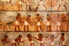 Ancient egyptian art. On the wall Royalty Free Stock Photos