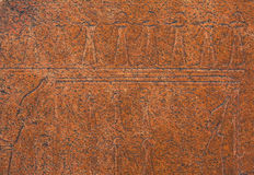 Ancient Egyptian art relief on stone as background Royalty Free Stock Photos