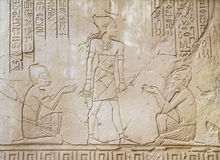 Ancient Egyptian Art Sunk stock images