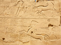 Ancient Egyptian bas-relief Stock Photography