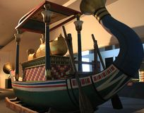 Ancient Egyptian boat stock photo