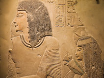 Ancient Egyptian carving royalty free stock photography