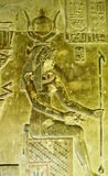Ancient Egyptian Carving of Cleopatra Stock Image
