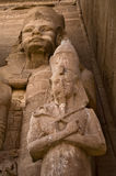 Ancient Egyptian carvings. A view of ancient Egyptian carvings at Abu Simbel, Egypt Stock Photos