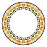 Egyptian circular ornament. Ancient Egyptian circular national ornament with lotus flowers vector illustration
