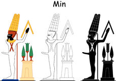 Ancient Egyptian god - Min. Min is an Ancient Egyptian god of fertility and the patron of traveling caravans. He was represented in many different forms, but was Stock Photography