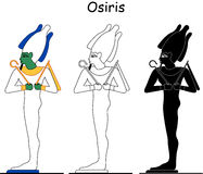 Ancient Egyptian god - Osiris Royalty Free Stock Images