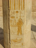 Ancient egyptian god, Temple of Queen Hatshepsut, Luxor Stock Photos
