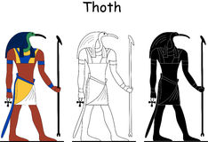 Ancient Egyptian god - Thoth Stock Image