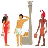 Ancient Egyptian-Greek market negotiations Royalty Free Stock Photography