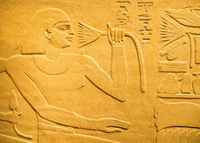 Ancient egyptian hieroglyph depicting a human figure Royalty Free Stock Photography