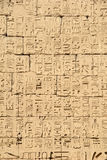 Ancient Egyptian hieroglyphic bas-relief Royalty Free Stock Image