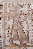 Ancient Egyptian hieroglyphic carving in Medinet Habu Stock Photography