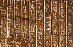 Ancient Egyptian hieroglyphics Stock Image