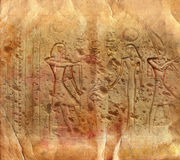 Ancient Egyptian hieroglyphics Stock Photography