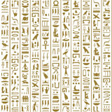 Ancient Egyptian Hieroglyphs Seamless. For background, wallpaper and etc Royalty Free Stock Photo