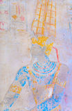Ancient Egyptian King Ramses II  in carved wall. Royalty Free Stock Image