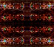 Ancient Egyptian linear symmetrical pattern. Dark Royalty Free Stock Photo