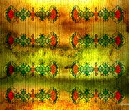 Ancient Egyptian linear symmetrical pattern. Light Stock Image
