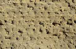 Ancient Egyptian mudbrick wall Royalty Free Stock Photography