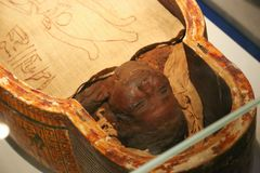 Ancient Egyptian Mummy stock photography