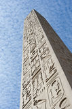 Ancient egyptian obelisk at a temple Royalty Free Stock Photos