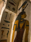 Ancient Egyptian Painted Coffin. Painted coffin in Museum in Turin Italy Royalty Free Stock Photos