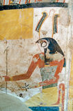Ancient Egyptian painting of Horus Stock Photos