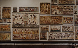 Ancient Egyptian painting in Metropolitan museum o Stock Photo