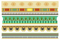 Ancient Egyptian pattern designs stock illustration
