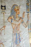 Ancient Egyptian Pharaoh painting Royalty Free Stock Images