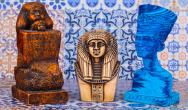 Ancient Egyptian Pharaoh Statue stock images