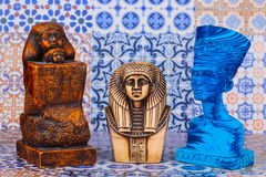 Ancient Egyptian Pharaoh Statue stock photo