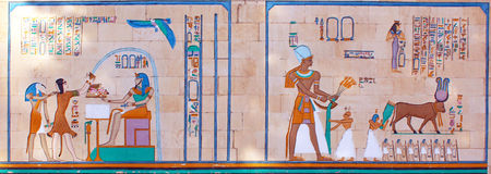 Ancient Egyptian  pharaonic art Royalty Free Stock Images