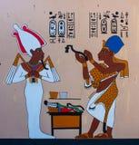 Ancient Egyptian  pharaonic art. Ancient Egyptian hieroglyphic carving & paintings - pharaonic art Stock Photos