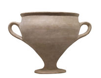 Ancient Egyptian pottery isolated Stock Image