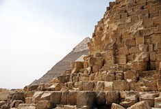 Ancient Egyptian pyramid of Giza Royalty Free Stock Photo