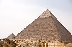 Ancient Egyptian pyramid of Giza Stock Photos