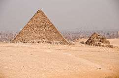 Ancient Egyptian pyramid of Giza Royalty Free Stock Image