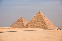 Ancient Egyptian pyramid of Giza Royalty Free Stock Images