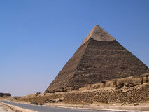 Ancient egyptian pyramids Stock Images