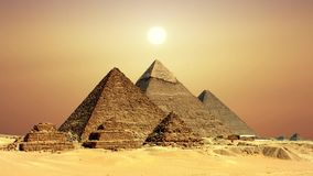 Ancient Egyptian pyramids, symbol of Egypt. Ancient Egyptian pyramids, symbol of Egypt stock video footage