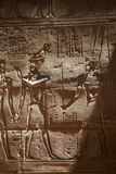 Ancient egyptian relief Stock Images